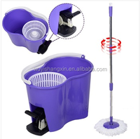 Top quality cheap perfect 360 degree spin mop magic clean manuanl floor cleaning hot sale big volume microfber