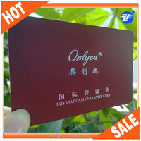 Top quality plastic pvc warranty card format