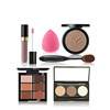 New Style Makeup Waterproof Powder Concealer Eyebrow Cream Lip Gloss Toothpaste Brush Rose Red Drop Puff 6 Sets of Bea