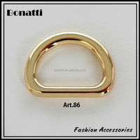 delicate golden zinc alloy metal D ring