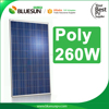 BlueSun 260 watt pv panel solar good quality poly 260W chinese solar panel manufacturers in China