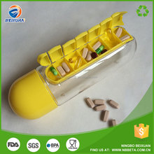 Water bottle with pill box plastic water bottle with tablet container