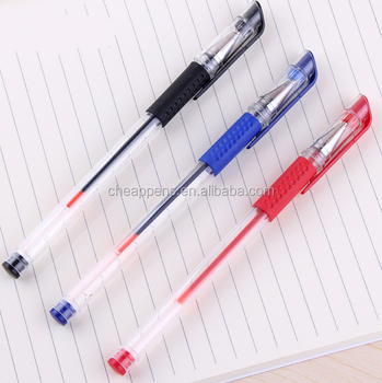 high quality office stationery black red blue plastic roller pen