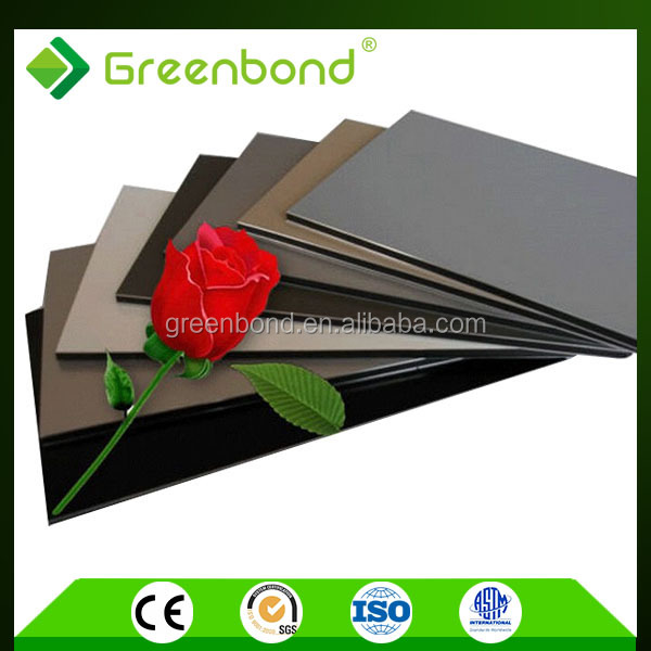 Greenbond 4mm aluminum composite plastic stone wall panels for kitchen foil covering