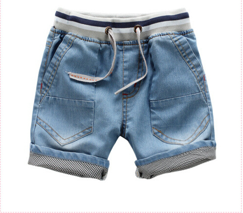 Baby water wash jeans 2015 summer male children's child clothing child shorts