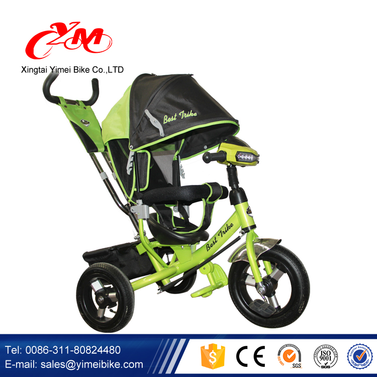 Wholesale China Children Baby Tricycle manufacturer/Metal frame kids tricycle with canopy/ children tricycle with safety belt