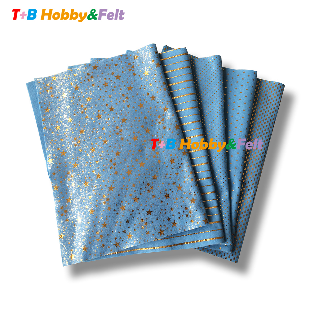 2018 Decorative golden pattern polyester felt Eco-friendly craft felt