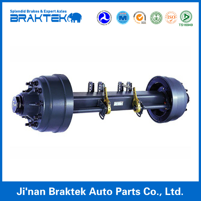 Heavy Duty Semi Trailer Spares Parts China Supplier 12T American Type Truck Trailer Axel