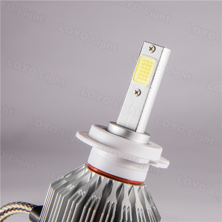 car fanless led headlight H4 high low universal led headlamp 12v waterproof