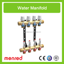 Menred A7+ low-temperature hot water radiant panel heating systems adjusting distribution manifolds
