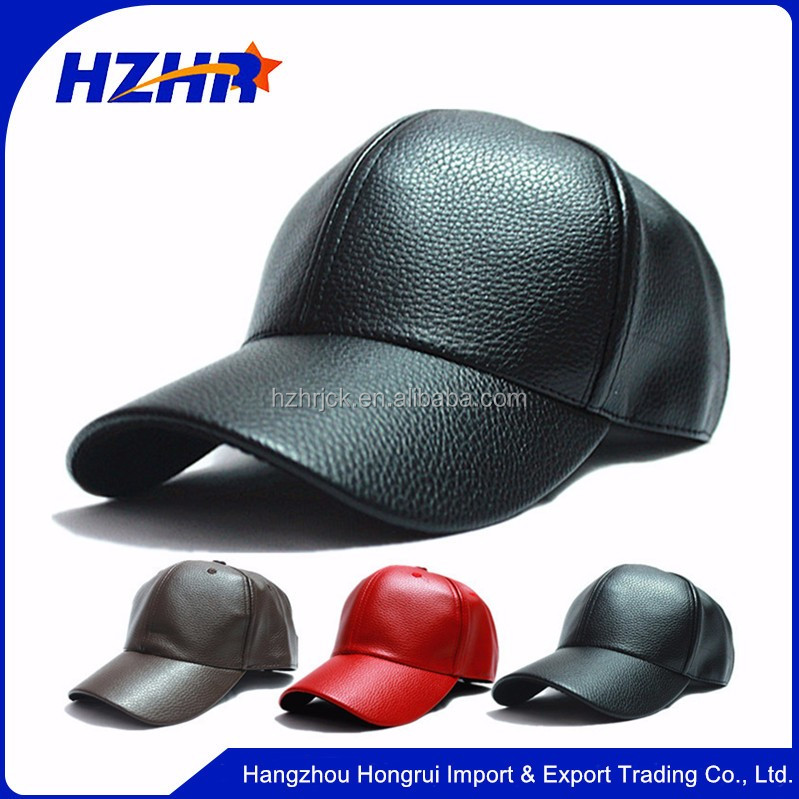 winter PU Leather Baseball Cap Biker Trucker outdoor Sports snapback Hats PU baseball cap hats and caps wholesale