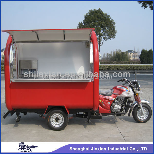 CE approved JX-FR220I mobile fryer food cart with frozen yogurt machine