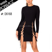 long sleeve latest design sexy pron night club party dress winter