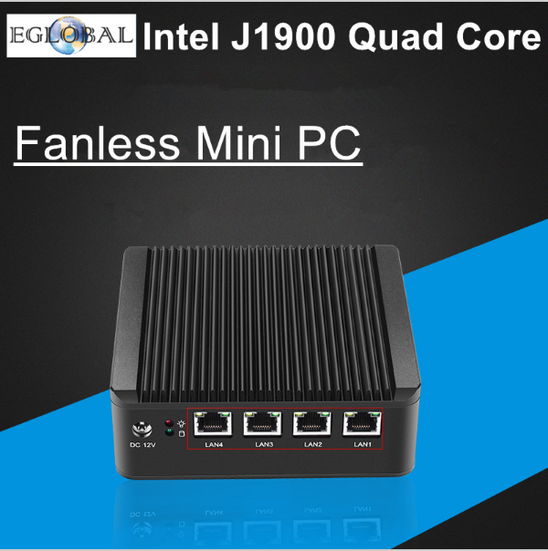 Industrial Mini PC Fanless Nettop Barebone IPC Intel Celeron 1037U Dual Core (1.8GHz, 2M Cache) 4 COM 2 Lan HTPC DHL Free Ship