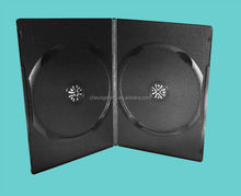 Wholesale 20 years experience 7mm 14mm black double plastic dvd case