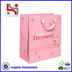 Dongguan factory Haiying oem eco packaging carry tote paper bag shenzhen