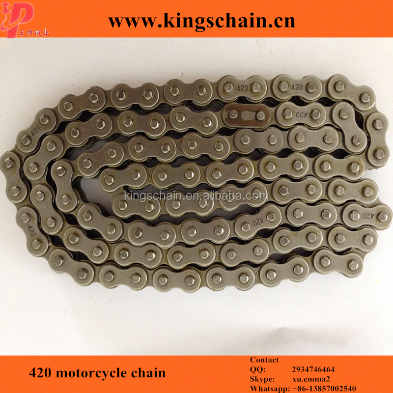 Cheap natural color 420 motorcycle chains and accessories