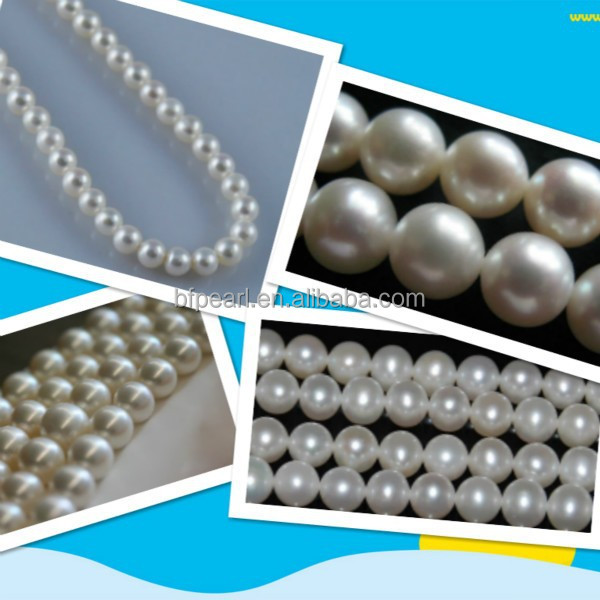 freshwater white loose wholesale string of pearl