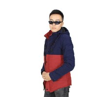 Latest Fashion Design KNL602 Zipper Hooded Men's Winter Coat