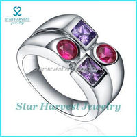 Famous puzzle ring silver gemstone jewelry