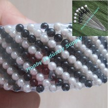 Wholesale 38mm White And Black Pearl Head Stick Hijab Pins