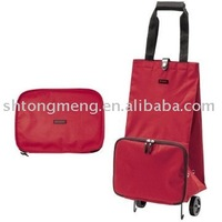 Collapsible Foldable wheeled trolley shopping cart Bag