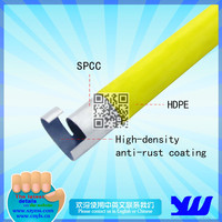OD28mm yellow PE coated lean pipe for rack system|JY-4000YH-P