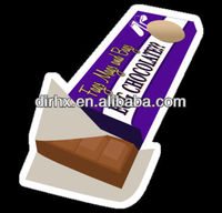 2013 Custom made pvc scratch-off Chocolate stickers in China