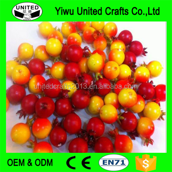 Emulational Plastic Funny Mini Pomegranate Artificial Fruit