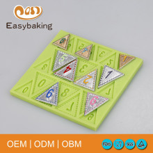 Low price numbers shape silicone candle molds or for fondant cake mould