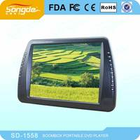 15 Inch Portable Dvd Player With Digital Tv Tuner,Dvb-t,Isdb-t,Lcd Screen,Usb,Fm,Game For Christmas Gift