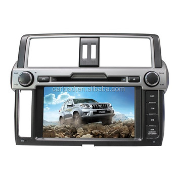 Toyota prado 2014 low version with 2 din touch screen car dvd audio
