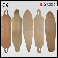 7/8/9 ply Canadian/Chinese maple blank longboard skateboard longboard deck Wholesale