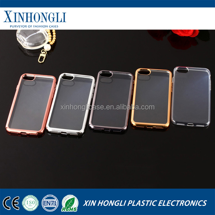 Low cost transparent creative fall soft plating tpu case for Iphone 7 plus