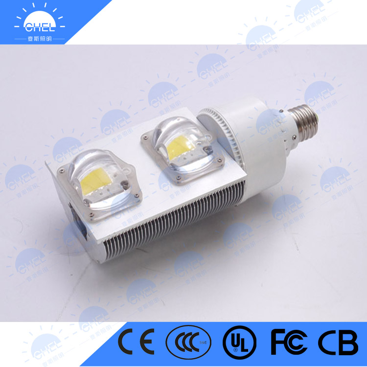 High Quality high powerled corn Finned radiator with fan CE RoHS approval 50w 100w E27/e40 led corn street light led corn lamp