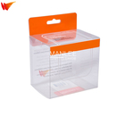 wanli brand foldable plastic boxes makeup pen brush clear folding pp pet pvc packaging package box