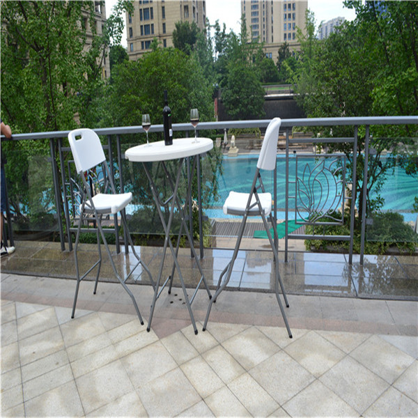 Small Round Folding Table, Outdoor Bar Table, Plastic Folding Table