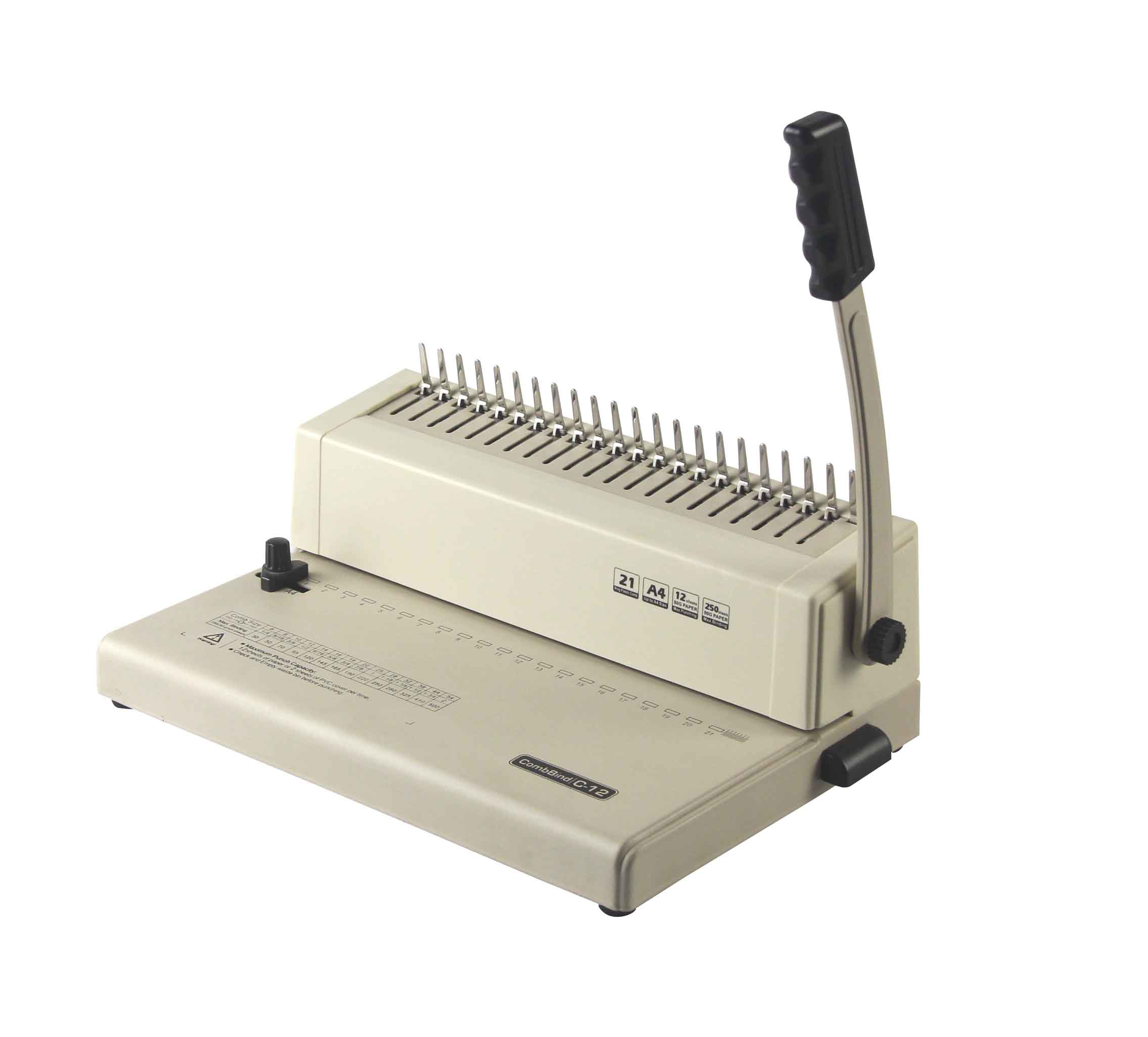 SONTO cheapest price Mini size manual Comb Binding Machine <strong>C12</strong> for home and school use