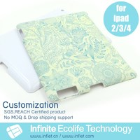 2014 OEM custom logo hard pc case for iPad 234