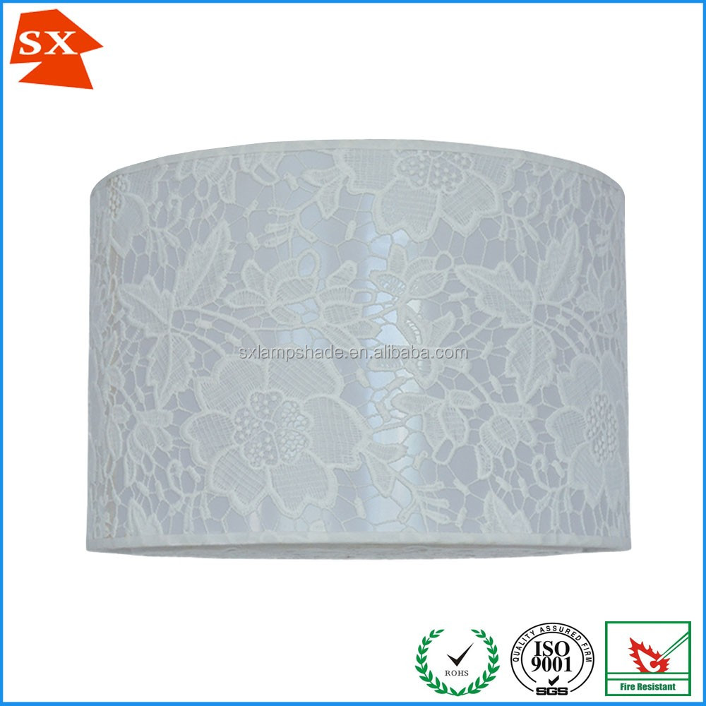 Lady high end sound quality pure white flowers pattern decor light shade