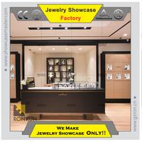 Luxury counter jewelry display case for jewelry watch display showcase