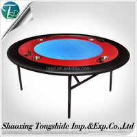 Steel cup 52Inched Round Cheap Poker Table with Iron Leg Mobile phone support