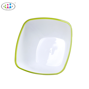 Fashion Design Mixing Cheap Serving Bowls Plastic Double-Color Salad Bowl