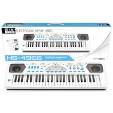 white plastic electronic organ gift musical piano toys custom keyboard