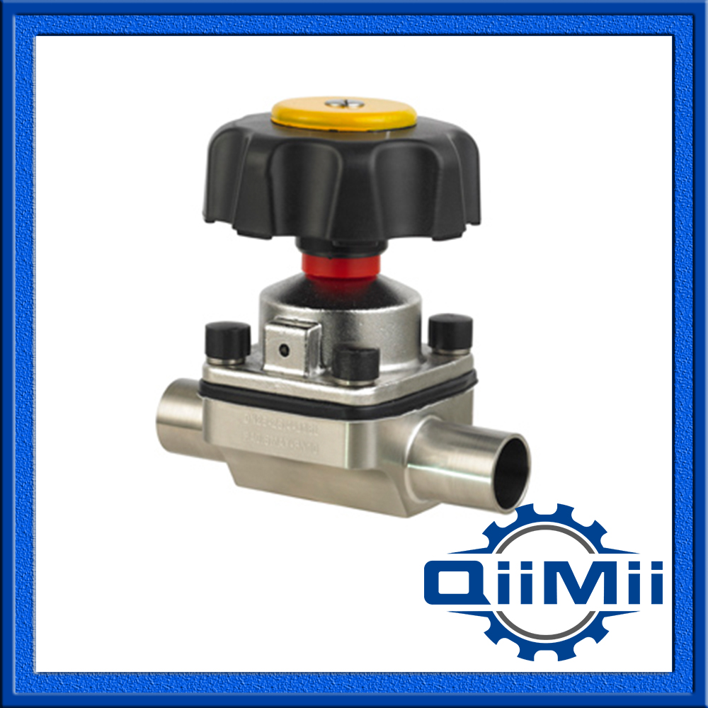 Sanitary Welded Straight Way Diaphragm Valve, Manually Operated