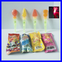 light plastic whistle lollipop sticks with light