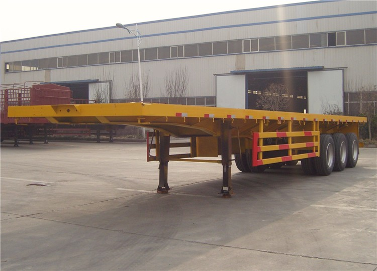 JACK flatbed container trailer, heavy duty trailer