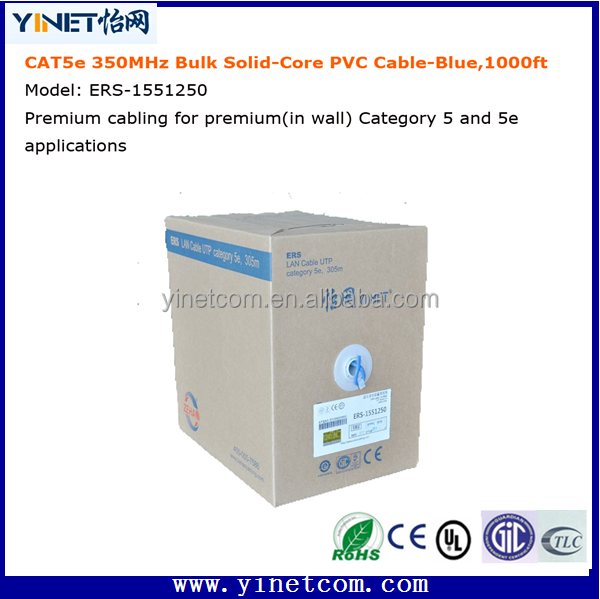 Pure copper 24 awg CAT5e UTP Network cable cat5 cat6 lan cable available