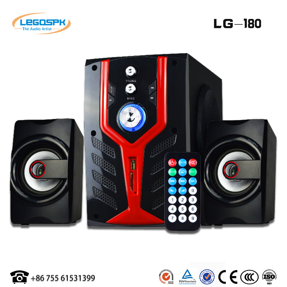 classical type 2.1 multimedia speaker for computer, blue tooth acoustics system with good sound