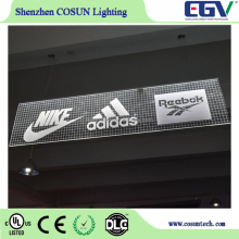 Acrylic Material and Star,Rectangle, Round, OEM shape Shape hanging window display light panel
